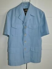 Vintage 70's ALLAN MARTIN Light Blue SAFARI JACKET