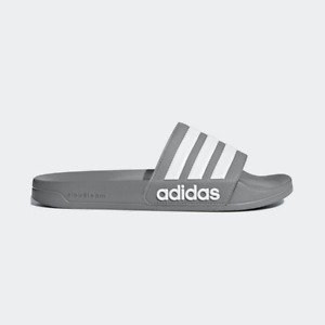 New Adidas Mens ADILETTE SHOWER B42212 GRAY / WHITE Cloud Foam US M 6 - 10 TAKSE
