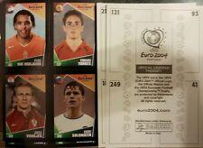 CAMPIONATO Europeo di Calcio 2004 POCKET ALBUM ADESIVI X208 numeri + ALBUM (56 fogli)