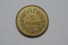 5 FRANCS BRONZE ALU 1939 SUP