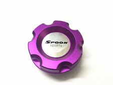 1Pcs Car Aluminum Violet Spoon Engine Oil Cap Filler Tank Cover W/ For CIVIC EG6