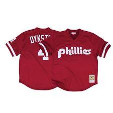 Lenny Dykstra Philadelphia Phillies Mitchell & Ness 1991 Authentic BP Jersey