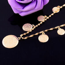 Fashion 14K Gold Filled  new Women Coin Pendant Jewelry  Excellent Necklace
