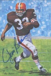 Jim Brown Autographed Goal Line Art Card JSA #KK52326
