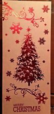 New Holiday Christmas Card Set of 6 With Envelopes 4 x 9 Inch Christmas Tree