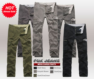 MENS CHAPMAN CASUAL MILITARY ARMY CARGO WORK PANTS TROUSERS-SIZE 32-42