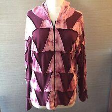 👕 Pink Tye Dye Hoodie w/ zipper, Size: XL