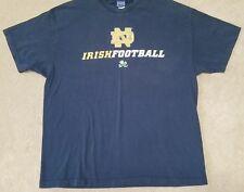 NOTRE DAME IRISH FOOTBALL Champs T-Shirt Mens XL Navy