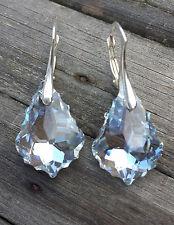Ohrringe 925 Silber mit Swarovski Elements Kristall Baroque Tropfen Moonlight