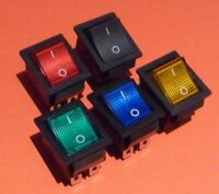 Wippschalter Kipp Netz Schalter 230V rot grün gelb blau beleuchtet 250VAC 16A