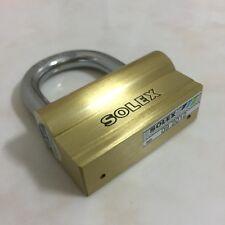 Solid Brass Padlock Hardened Steel Shackle Security Lock Door Safety Home Garage