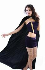 Deluxe 4pc Wicked Queen Costume-Skirt-Top-Cape-Crown Size L