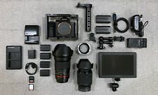 Sony a7S II & Rokinon 35mm, 28-70mm, 4K Monitor Cage Handle Lens Adapter a7SII 2