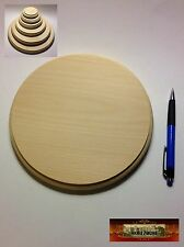 """M00974 MOREZMORE 1 Unfinished 8"""" Round Wood Base Wooden Plaque Stand T20"""
