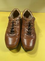 Rockport Signature Series Mens Size 9 1/2W Brown Leather Dress Shoe APM2761E