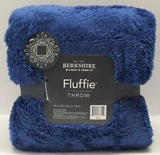 Berkshire Blanket Fluffie Throw 60x70 Blanket:DARK BLUE