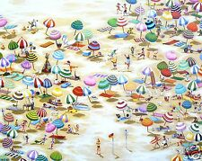 art beach bondi painting  australia print  canvas poster by Andy Baker COA