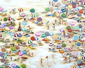 bondi beach painting print art canvas COA modern by andy baker Australia