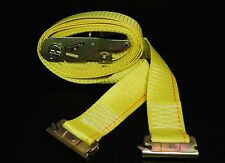 (2) 12' E Track Ratchet Straps Tie Down Truck Trailer Enclosed Cargo Van Strap