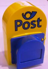 *NEW* 1 Lego DUPLO Yellow Blue MAILBOX POST