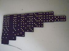 Black Domino Set 1-6 World Globe Candle Candlestick Book White Dots Gavel