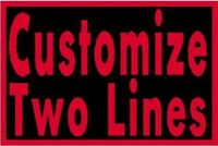 """Custom Embroidered 4"""" x  3"""" Name Tag Sew Iron-On Patch 2 LINES MC Tactical #1"""