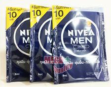 3 x 8ml NIVEA MEN CREME Oil Control Face Skin Soft Hand Moisture Body UV Protect