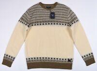 GANT Lammwolle Fairisle Herren Rundhals Wolle Pullover Größe M, L,XL, 2XL,3XL