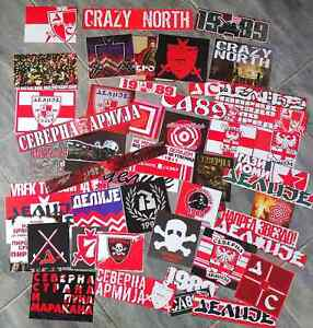 50 x Football Ultras Stickers Delije-Sever RED STAR BELGRADE 2