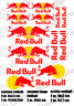 Kit 12 Adesivi Bubble Free Red Bull Universali auto moto racing