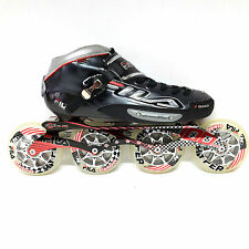 Fila F100 black Racing Line Speedskate Inliner Skates Gr. 41 / 7,5 100 mm Carbon