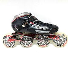 Fila F100 black Racing Line Speedskate Inliner Skates Gr. 47 / 12 100 mm Carbon