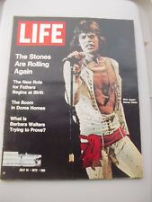 Life Magazine THE ROLLING STONES, Barbara Walters Article  July 14 1972