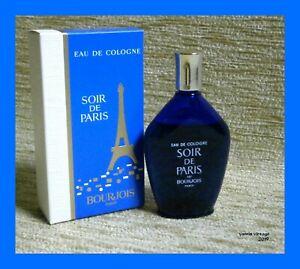 SOIR DE PARIS NIB EDC BOURJOIS 30ml (1 fl oz) Splash Cologne Made in France VTG