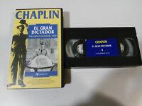 EL GRAN DICTADOR THE GREAT DICTATOR CHARLES CHAPLIN VHS CINTA TAPE CASTELLANO