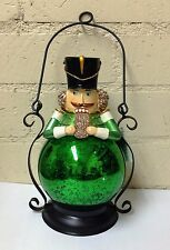 QVC H203089 Mercury Glass Holiday Lantern W/ Flameless Candle - Nutcracker