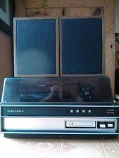 vintage panasonic record player, 8 track and speakers, working