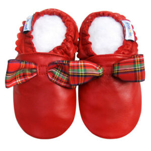 Littleoneshoes Soft Sole Leather Baby Infant Kid Children PartyRed Shoes 0-6M
