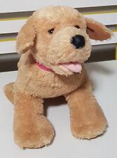 Build A Bear Golden Retriever Plush Toy Soft Toy 30Cm Tall Pink Collar!