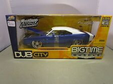JADA 1/24 BIGTIME MUSCLE BLUE 1970 DODGE CHARGER R/T *READ* NEW IN BOX