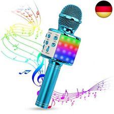 Karaoke Mikrofon, Drahtlose Bluetooth Mikrofon mit Tanzen LED Lichter,