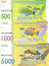 LOT 5 SETS Cabo Dakhla set 6 banknotes 2015 UNC (private issue)