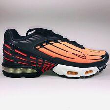 Nike Air Max Plus 3 Black Pimento Orange Sneakers Mens Size 10 CD7005-0001