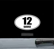 12 gauge oval vinyl decal sticker gun rifle bullet ammo shotgun barrel shot