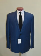 Spencer Hart Savile Row Albert Blue Wool Serge SB2 Notch Lapel Suit 44 R