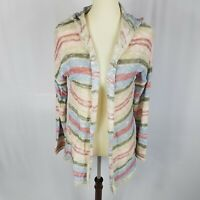 American Rag womens boho cardigan sweater size M pastel colors open front new