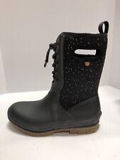 Bogs Crandall Lace Speckle Womens Rain Boots Black Size 8 M