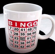 Lucky BINGO Coffee Mug Tea Cup Fanatic Gambler Good Luck Charm Player Gift