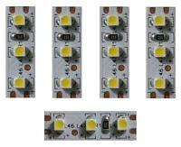 S355 - 5 Stück MINI LED Hausbeleuchtung 2,5cm WEIß Häuser Beleuchtung mit 3 LEDs