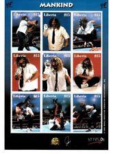 "Liberia 2000 - Mick Foley ""Mankind"" - Sheet of 9 Wrestling Stamps MNH"